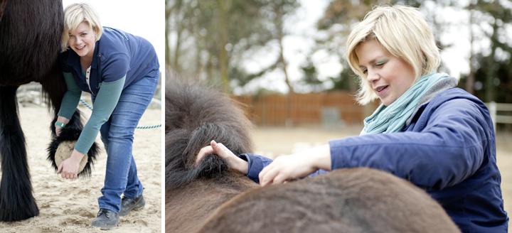 Kristina mit Pferd